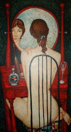 Volodia Popov - Woman in front a Mirror