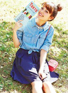 【着まわしday3】ダンガリーシャツ×ハリ感スカート | ファッション コーディネート | with online on ウーマンエキサイト