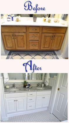 Diy Bathroom Vanity Makeover Tubs 51 Ideas For 2019 Bathroom Makeover, Bathroom Furniture, Bathroom Design, Diy Bathroom, Double Sink Bathroom Vanity, Bathroom Vanity Makeover, Cheap Bathroom Vanities, Cheap Bathrooms, Luxury Bathroom Vanity