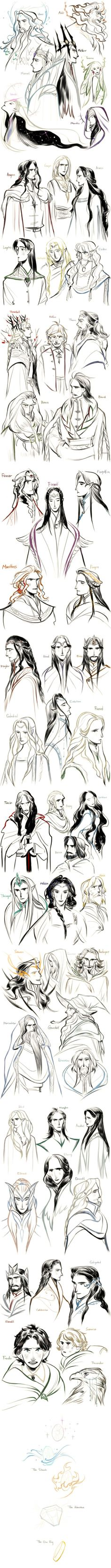 [Tolkien]54 characters by Wavesheep.deviantart.com on @deviantART I dont have words for how much i love this!