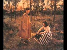 """Béla Iványi-Grünwald: """"Shepherd and Peasant Woman"""", oil on canvas, Dimensions height : 100 cm. The Shepherd, Hanging Art, Large Art, Art Reproductions, Hungary, Art For Sale, Oil On Canvas, Sketches, Fine Art"""