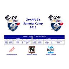 City AFL 9's Summer Comp 2016