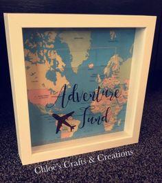 Adventure travel fund - Box frame money box