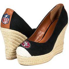 Cuce Shoes San Francisco 49ers Women's Wedge Shoes