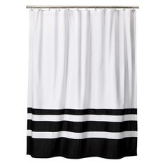 $22 Threshold™ Color Block Shower Curtain - Black/White
