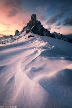 Italy 2019 Wonderful winterly views in the Dolomites. I made So many compositions with this incredible foregrounds made of hard frozen snow Tower Of Power, Frozen Snow, Outdoor Photography, The Incredibles, Italy, Explore, Mountains, Travel, Italia
