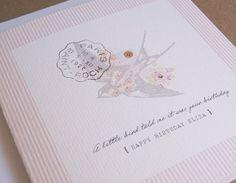 My birdie birthday card