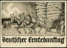 Ertnedanktag card franked with Hindenburg