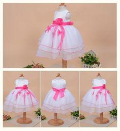 1f08a27f30d2d Robe-de-ceremonie-bapteme-sans-manche-bebe-fille-0-24-mois-blanc-rose-vif