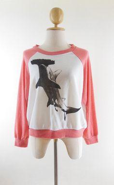 $17.99 Free Size--Shark Tshirt Sweatshirt shark shirt shark sweater women sweater women tshirt women tee shirts