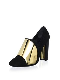 70% OFF YSL Women\'s Cardinal Loafer Pump (Black/Gold)