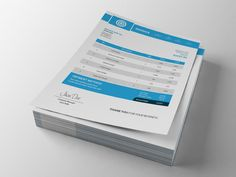Business invoice template by Graphicalark on Creative Market