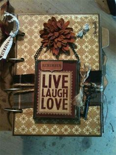 Live, Laugh, Love Scrapbook Album - File Folder 5x7 album