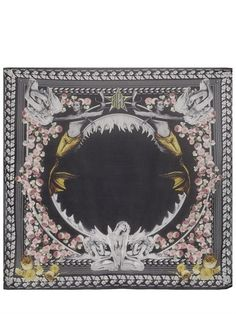 GIVENCHY - COTTON AND MODAL SHARK SCARF - LUISAVIAROMA - LUXURY SHOPPING WORLDWIDE SHIPPING - FLORENCE
