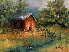 "Daily Paintworks - ""Babbling Stream landscape by Alabama Artist Angela Sullivan""…"