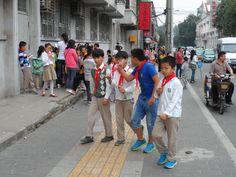 China, Xi'an. Schoolkids. September 2014