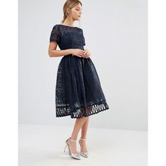 Chi Chi London Premium Lace Dress with Cutwork Detail and Cap Sleeve (340  BRL) e6051ac4dc