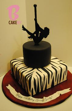 Pole dancing birthday cake!  Girls night out cake!