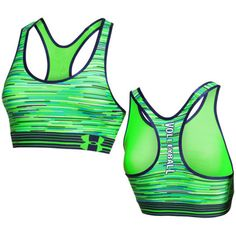 Under Armour Women's Printed Volleyball Sports Bra - Lime