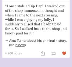 Hahaha Alex on his criminal history haha I can see this happening awh he's so adorable