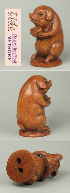 Sale boxwood japanese carving good luck animals