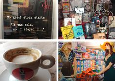passion for shopping, coffee, bookstores and a really good story Brand Innovation, Bookstores, Shed, Passion, Coffee, Tableware, People, Shopping, Kaffee