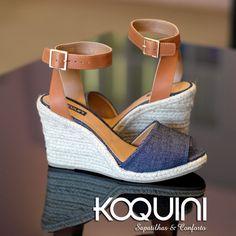 Preparando o look do final de semana? Que tal #anabela ? Compre a sua online: http://koqu.in/1NyYeyc #koquini #sapatilhas #euquero