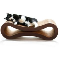 PetFusion Cat Scratcher Lounge...I mean, my furniture is almost disposable anyways due to the cats, why not this stylish piece of cardboard?