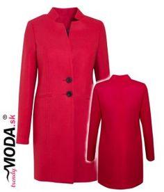 Červený prechodný dámsky kabát – trendymoda.sk Dresses For Work, Jar, Jackets, Fashion, Down Jackets, Moda, Fashion Styles, Fashion Illustrations, Jars