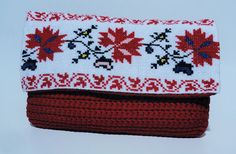 Crocheted handbag with romanian traditional by CatanaHandmade Crochet Handbags, Crochet Accessories, Shoe Boots, Coin Purse, Etsy Shop, Traditional, Boutique, Wallet, Trending Outfits