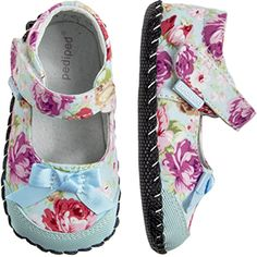 2283: Originals Louisa Blue Floral - Keep her blooming in a sweet floral design, with our signature soft sole for comfort & stability.