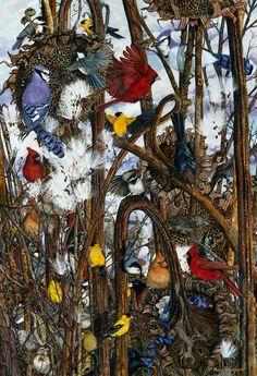 Paintings By Maggie Vandewalle - Prints originals in gouache