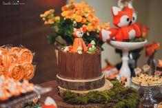 Recepções - CHÁ DE BEBÊ DO RAFAEL - LARANJEIRAS, SERRA - ES Woodland Party, Table Decorations, Food, Baby, Forest Animals, Forest Party, Orange Trees, Baby Boy Shower, Creativity