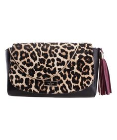 d19843f6bba Kate Spade Black Leopard Jil Longacre Court Haircalf Leather Shoulder Bag.  Designer Shoulder BagsCheetah PrintClutch WalletMy ...