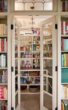 Having a pantry is great for storing items out of the way, but this level of organization is outstanding! - Photo: Ed Gohlich / Kitchen organizational planner: Lesa Heebner