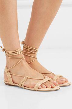 1daa9262ad5 Cult Gaia - Sienna woven raffia and leather sandals