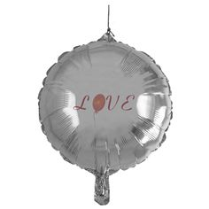Custom Red Love Heart Balloon Balloon, fully editable!