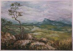 """Купить картина """"Лаго-наки"""" - комбинированный, природа, пейзаж, годы, адыгея, живолись в подарок"""