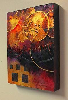 "CAROL NELSON FINE ART BLOG: Mixed Media Abstract Painting, ""Introspection"" by Colorado Mixed Media Artist Carol Nelson"