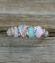 Opal ring - Must have! -Raw Opal ring - Must have! - Raw opal ring size 3 4 5 6 7 8 9 10 11 / Australian opal ring / Fire opal ring / Gift for wife Raw tourmaline ring / Gold tourmaline ring / Watermelon Cute Jewelry, Jewelry Rings, Jewelry Accessories, Jewelry Design, Jewelry Ideas, Cheap Jewelry, Unique Jewelry, Jewelry Shop, Jewelry Websites