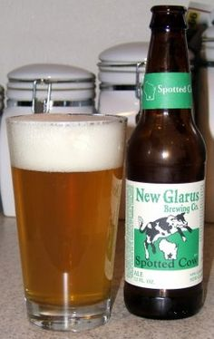 Drink this in Wisconsin when we go for a fish fry. New Glarus Spotted Cow