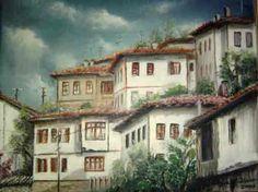 Sans Art, Islamic Art, Old Houses, Home Art, Watercolor Art, Istanbul, Art Drawings, Mansions, Landscape