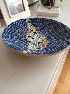 Haus Dekoration Glas Mosaik Bambus blau Multi Skalenfarben
