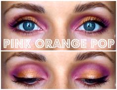 Pink Orange Pop makeup by BeautybySacha Go here for the makeup tutorial --> https://www.youtube.com/channel/UCz5iBvtT22aWcrKk__AYYuw Makeup done with Sleek I-Divine Snapshots eyeshadow palette