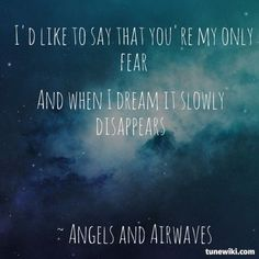 """-- #LyricArt for """"Call To Arms"""" by Angels and Airwaves"""