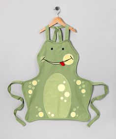 Take a look at this Whim Frog Apron - Kids by Little Chefs Collection on #zulily today! Love this for a boy!