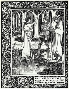 #LadyoftheLake #kingarthur #sword #excalibur #vintageprint #vintage #bookplate #Print #Aubreybeardsley #oakwoodview #oakwoodviewtoo #evt by OakwoodView