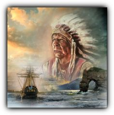 Chief Massasoit, the leader of the Wamponoag Tribe who was the leader of the tribe who helped the first Colonists in that first harsh winter. Native American History, Native American Indians, Native Americans, Tribal Rituals, Church Of England, Family History, Nativity, East Bridgewater, Pilgrims