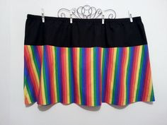 I have wanted to make colorful plus size skirts for so long and now that I have finally gotten around to it, they are selling really well. Hope this encourages others, to get started on those ideas they have tucked away for later. Women's skirt rainbow cotton skirt black women plus by GrannyJack,