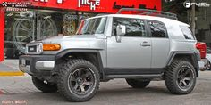 toyota fj cruiser fuel beast d564 18X9 Black & Machined with Dark Tint wheels and rims